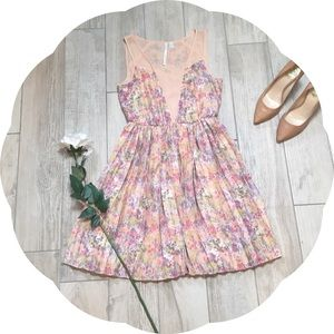 Lauren Conrad Pleated Floral Print Dress